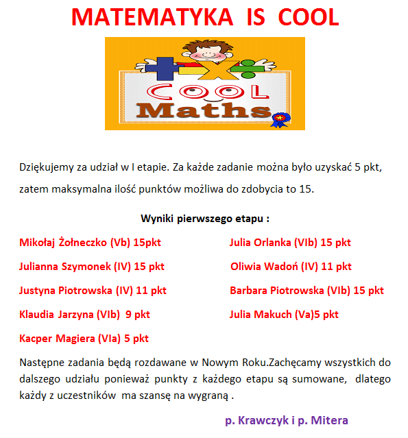 MATEMATYKA IS COOL